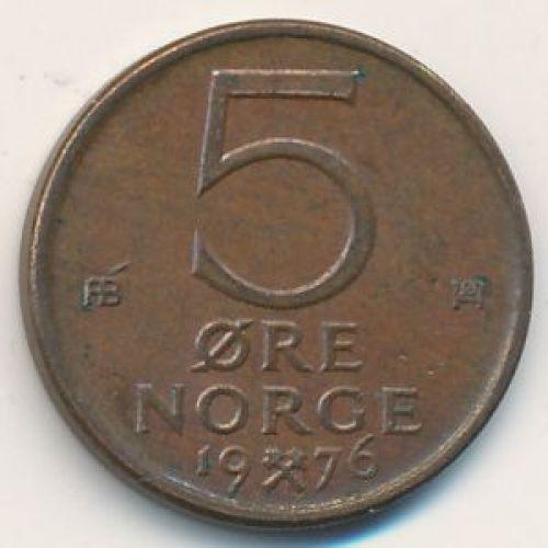 5 эре 1976 год. Норвегия