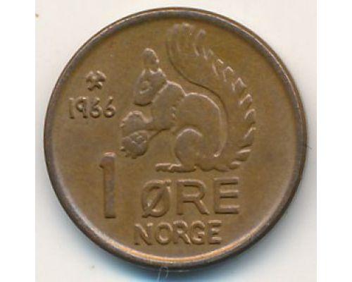 1 эре 1966 год. Норвегия