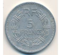 5 франков 1945 год Франция