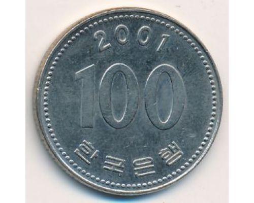 100 вон 2001 год Южная Корея