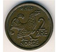 2 эре 1960 год Норвегия Шотландская куропатка