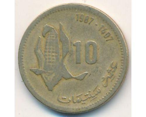 10 сантим 1987 год. Марокко