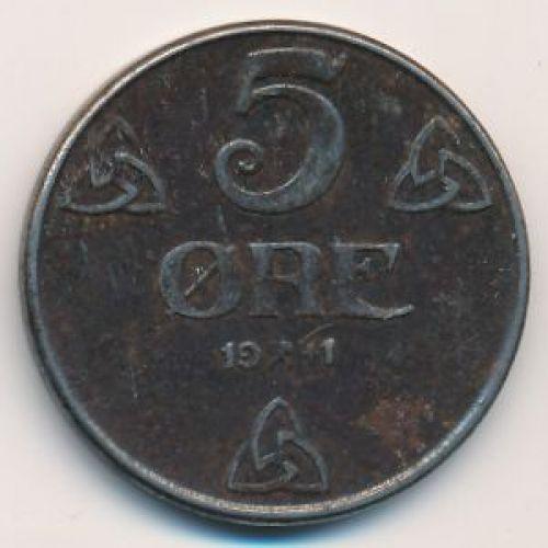 5 эре 1941 год. Норвегия. Оккупация