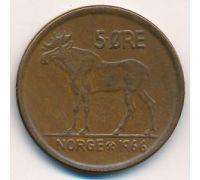 5 эре 1966 год Норвегия Лось