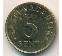 5 сентов 1991 год Эстония