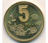 5 джао (цзяо) 2001 год. Китай