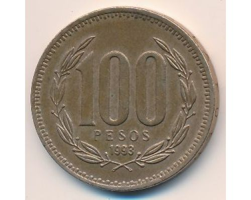 100 песо 1993 года. Чили