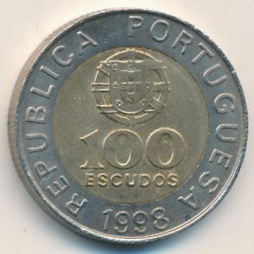 100 эскудо 1998 год. Португалия. Педро Нуниш
