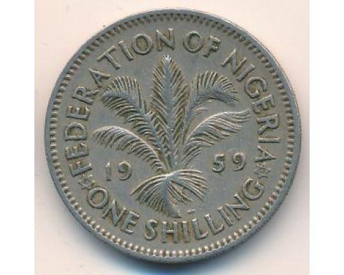 1 шиллинг 1959 год Британская Нигерия Елизавета II
