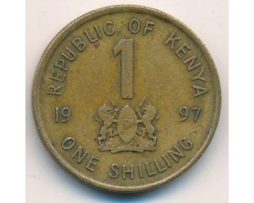 1 шиллинг 1997 год Кения Даниель Арап Мои
