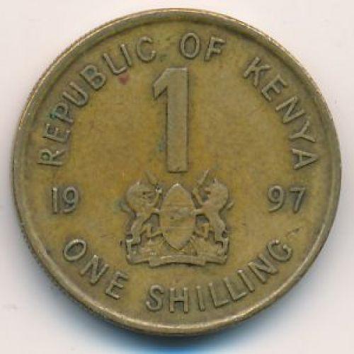 1 шиллинг 1997 год. Кения. Даниель Арап Мои
