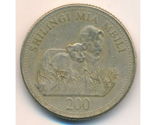 200 шиллингов 1998 год Танзания Занзибар