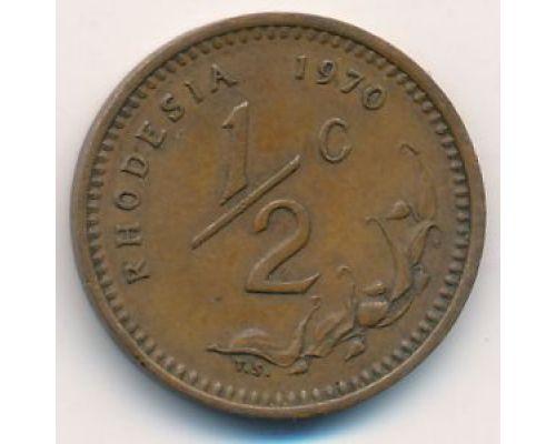 1/2 цента 1970 год Родезия