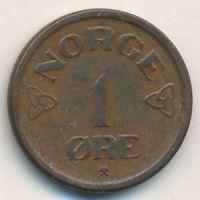 1 эре 1956 год. Норвегия