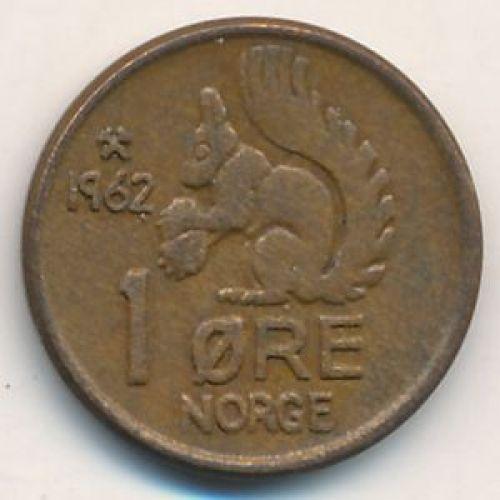 1 эре 1962 год. Норвегия
