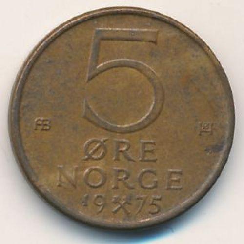 5 эре 1975 год. Норвегия