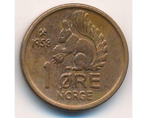 1 эре 1958 год. Норвегия