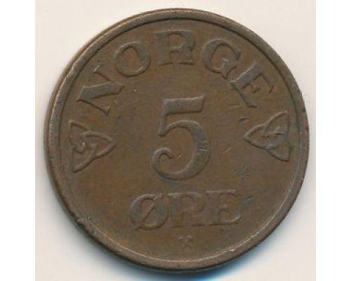 5 эре 1957 год Норвегия