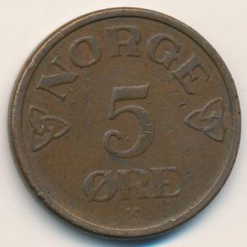5 эре 1955 год. Норвегия