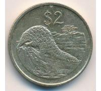 2 доллара 1997 год Зимбабве Панголины