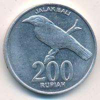 200 рупий 2003 год Индонезия. Скворец