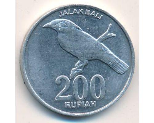 200 рупий 2003 год Индонезия Скворец