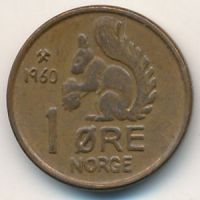 1 эре 1960 год Норвегия