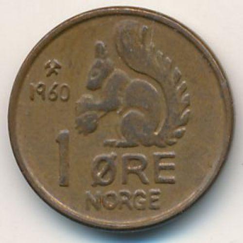 1 эре 1960 год. Норвегия