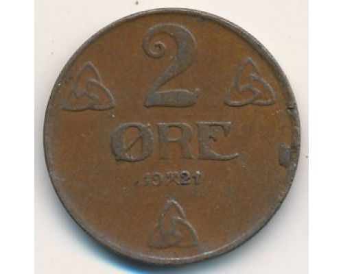 2 эре 1921 год. Норвегия