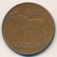 5 эре 1973 год Норвегия Лось