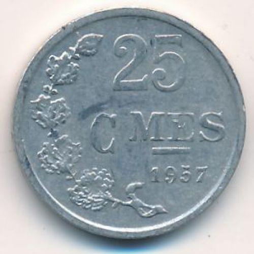 25 сантим 1957 год Люксембург