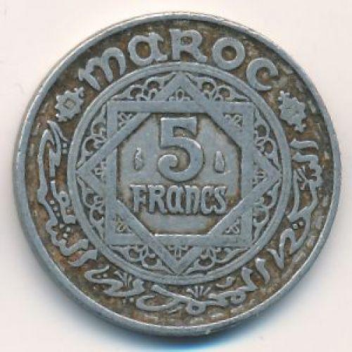 5 франков 1951 год. Марокко