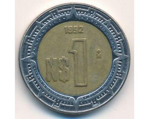 1 новый песо 1992 год. Мексика