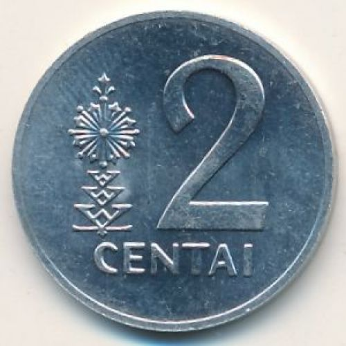 2 цента 1991 год. Литва