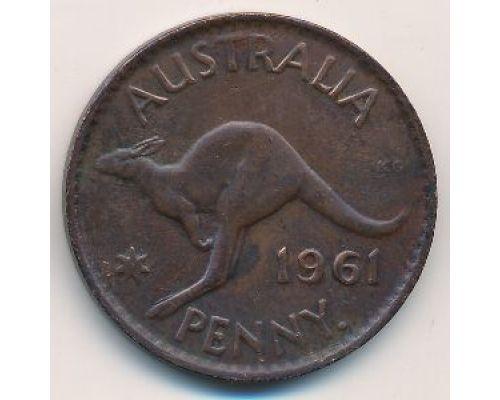 1 пенни 1961 год Австралия (p) Perth