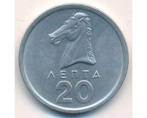 20 лепт 1976 год Греция Голова коня