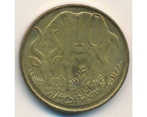 10 центов 2004 год Эфиопия