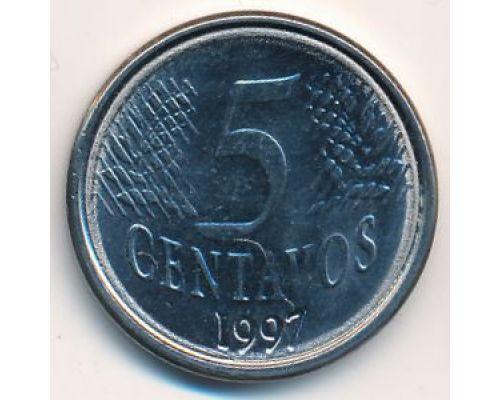 5 сентаво 1997 год Бразилия
