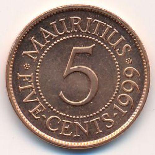 5 центов 1999 год Маврикий. Сивусагур Рамгулам