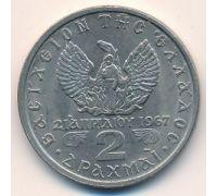 2 драхмы 1971 год Греция Константин II