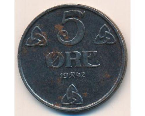 5 эре 1942 год Норвегия Оккупация