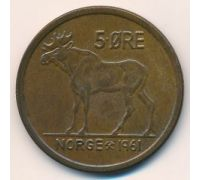 5 эре 1961 год Норвегия Лось