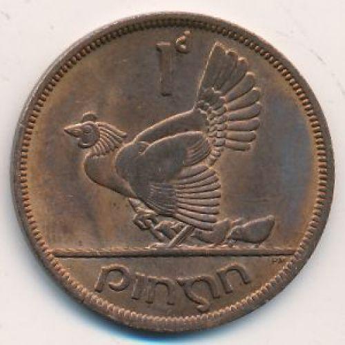 1 пенни 1968 год. Ирландия