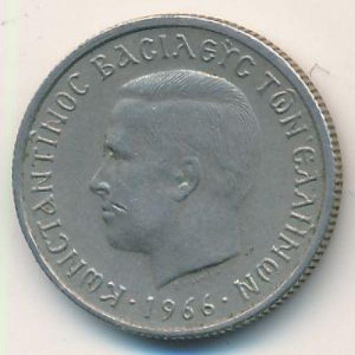 50 лепт 1966 год. Греция