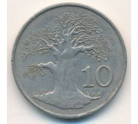 10 центов 1980 год. Зимбабве. Баобаб