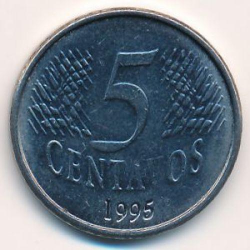 5 сентаво 1995 год. Бразилия