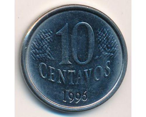 10 сентаво 1996 год Бразилия