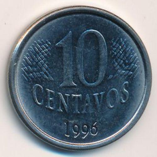 10 сентаво 1996 год. Бразилия