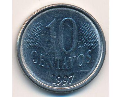 10 сентаво 1997 год Бразилия