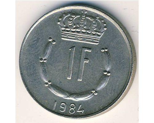 1 франк 1984 год Люксембург Жан